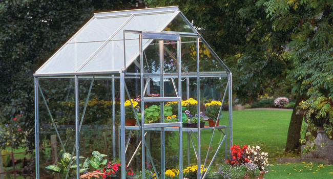 Greenhouse with door open