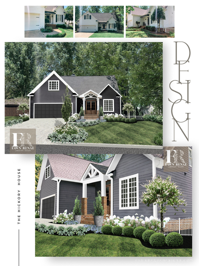 Fawn Renae Designs landscape design at the Hickory House in Hickory, NC.