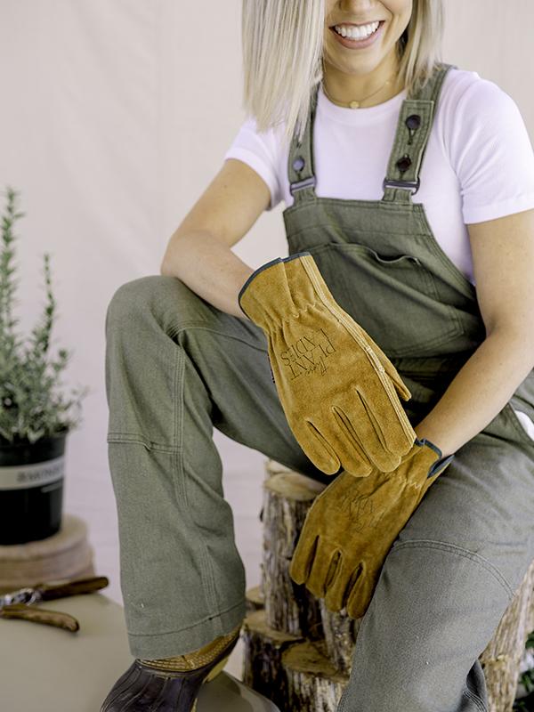 those plant ladies wearing gloves