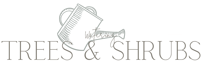 watering trees and shrubs text
