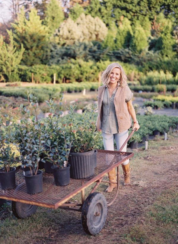 Those Plant Ladies, Fawn Renae Designs, lady pushing cart with plants, lady shopping at nursery, lady buying plants