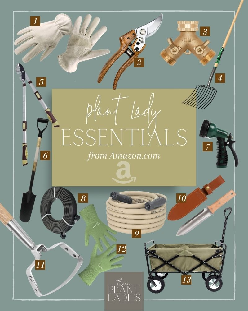 Plant Lady Essentials with pictures of each item; curated by Those Plant Ladies.
