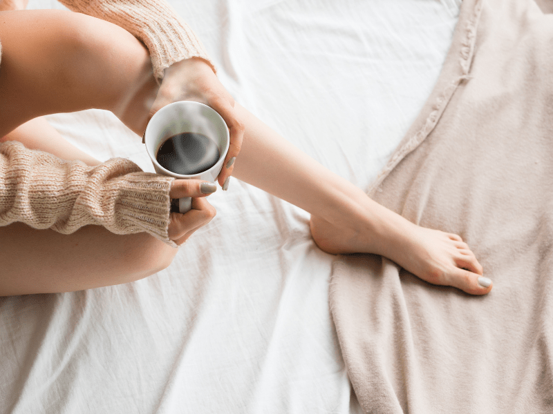 Coffee in bed; Those Plant Ladies: 5 Ways to Fight the Winter Blues