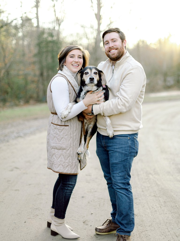 Alexa of Those Plant Ladies with her husband and dog.