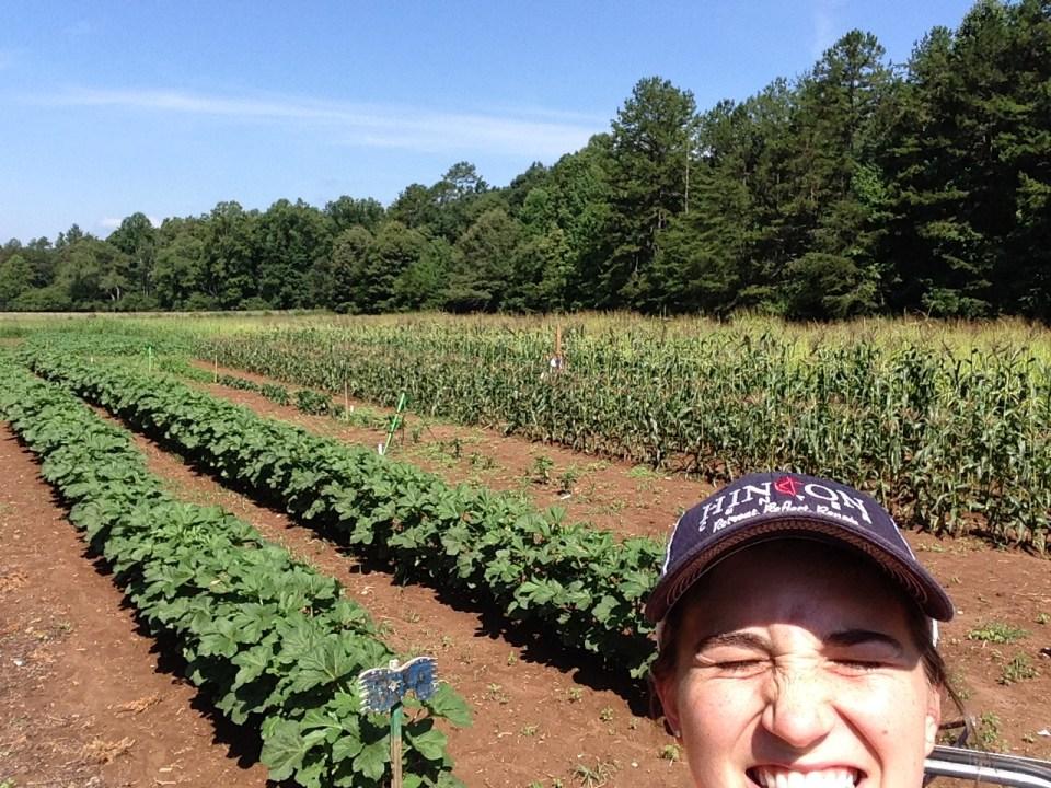 Alexa of Those Plant Ladies at her summer internship at Hinton Rural Life Center.