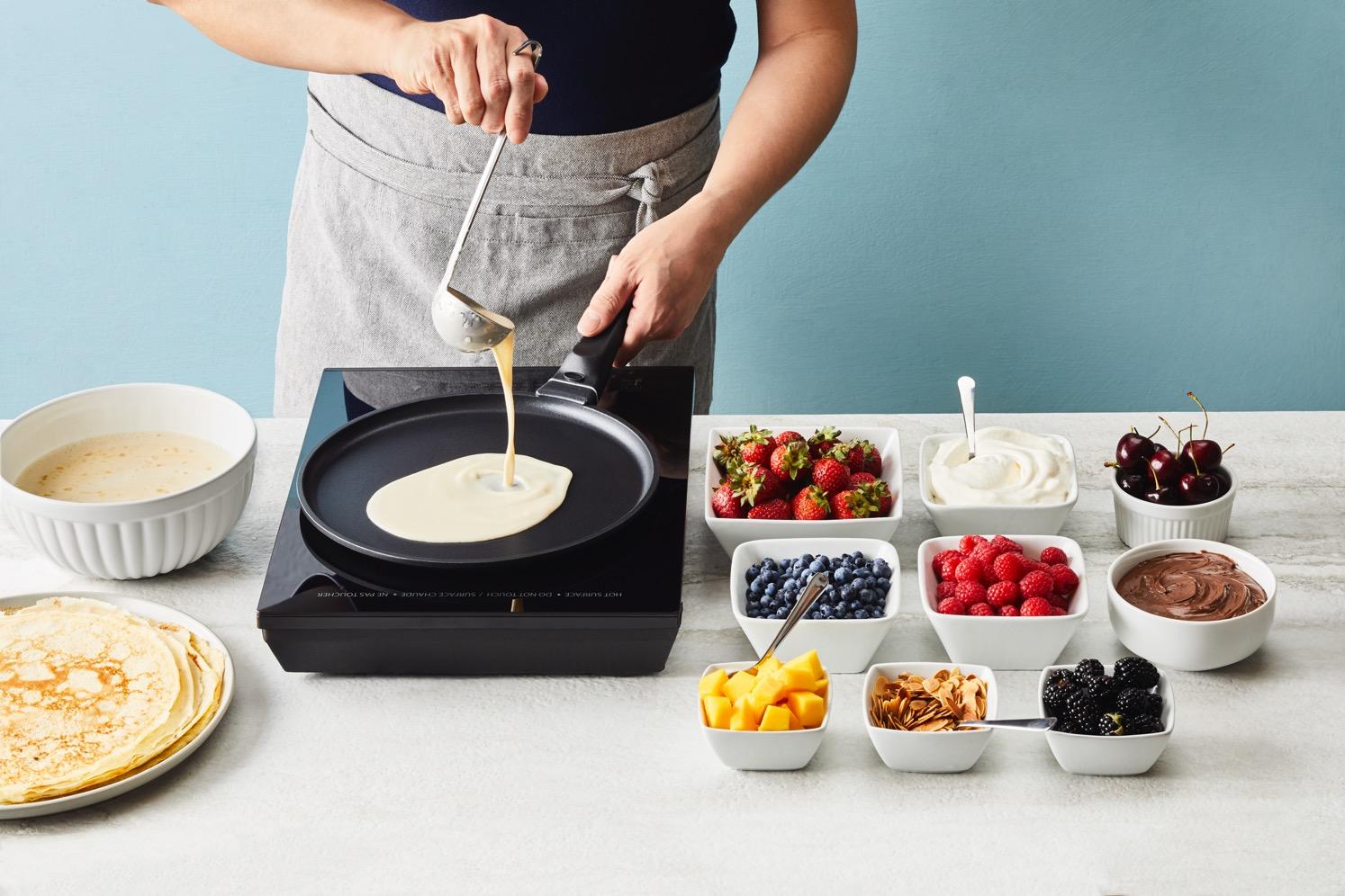 Brian making pancakes
