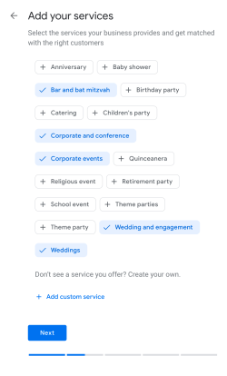 Categorize yourself as an event planner