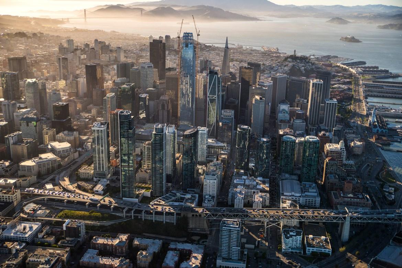 Downtown San Francisco & San Francisco Bay (Aerial)