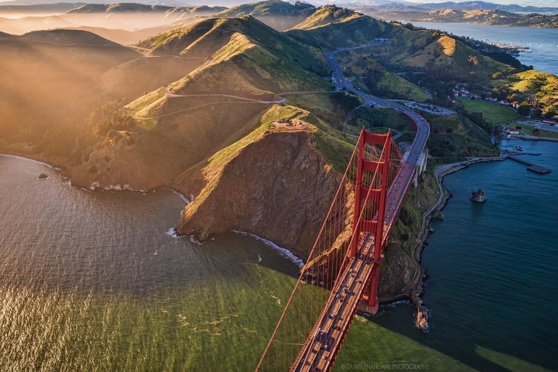 Golden Gate Bridge & Marin Headlands (Aerial)