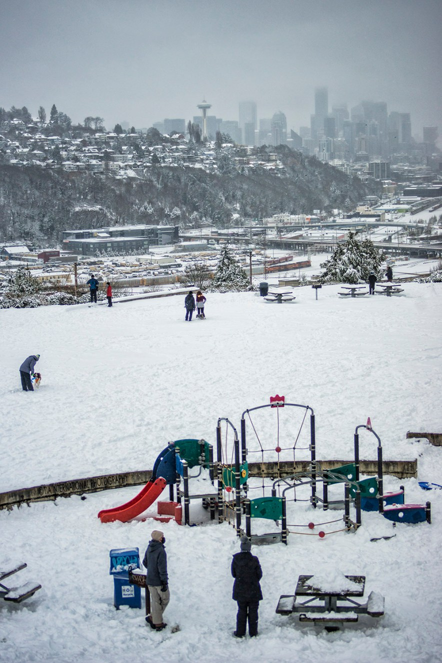Ella Bailey Park, Magnolia, Seattle (February 13, 2021).