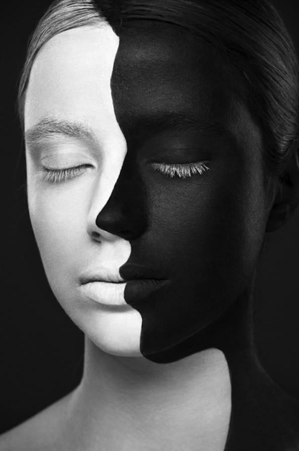 超強化妝術!把人類的臉變成2D平面11-600x903