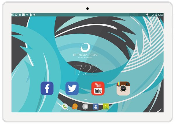 "TABLET BRIGMTON BTPC-1024QC-B 10"" IPS LED 2 16 A64 BLANCO ANDROID 6.0"