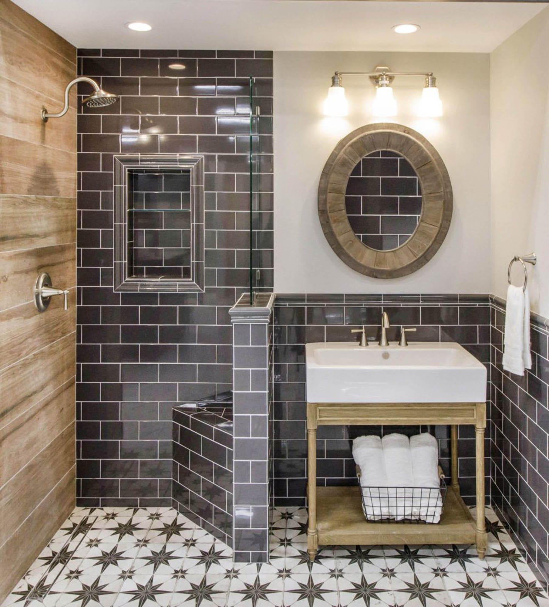 How to Achieve Modern Farmhouse Design with Tile - The ... on Farmhouse Tile Bathroom Floor  id=16413