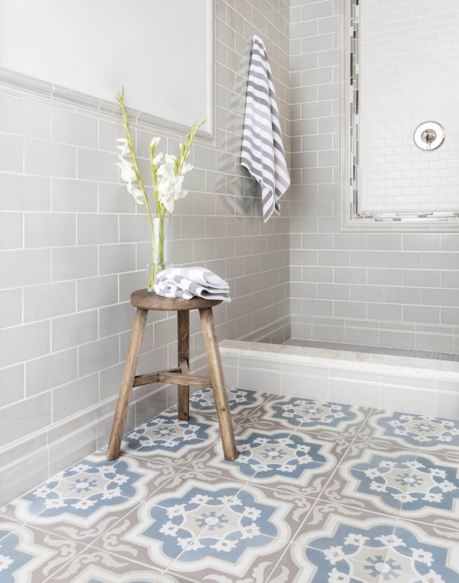 How to Achieve Modern Farmhouse Design with Tile - The ... on Farmhouse Tile Bathroom Floor  id=14524