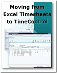 All new Solutions area for those using Excel timesheets