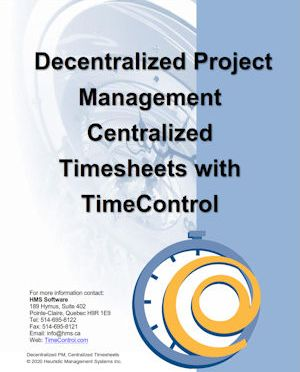 De-centralized Project Management and Centralized Timesheets with TimeControl
