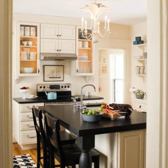 20 Small Eat-In Kitchen Ideas & Tips + Dining Chairs ... on Small Kitchen:jdu_Ojl7Plw= Kitchen Remodeling Ideas  id=39493