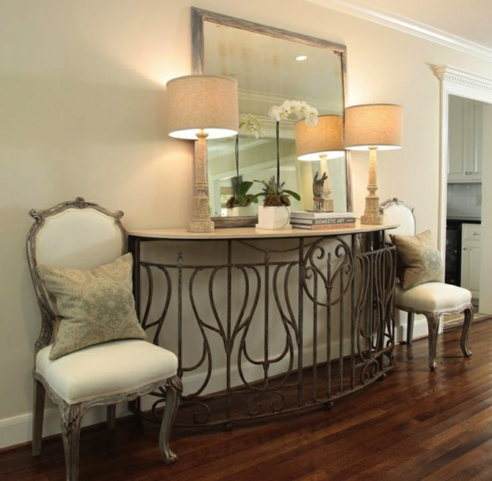 Image Result For Narrow Mirrored Console Table