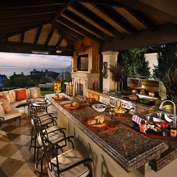 Awesome Outdoor Kitchens With Bars | Artisan Crafted Iron ... on Outdoor Kitchen Patio id=55413