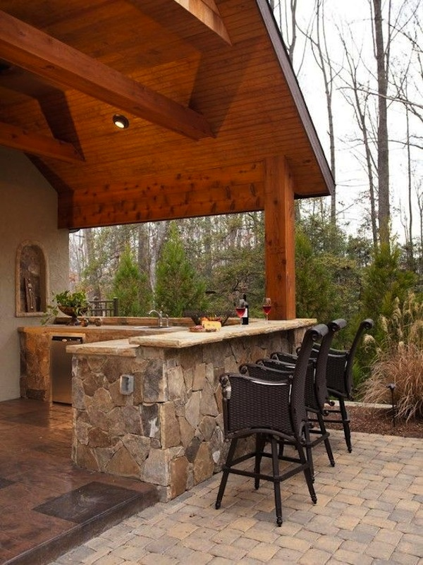 Awesome Outdoor Kitchens With Bars | Artisan Crafted Iron ... on Patio With Bar Ideas id=48932