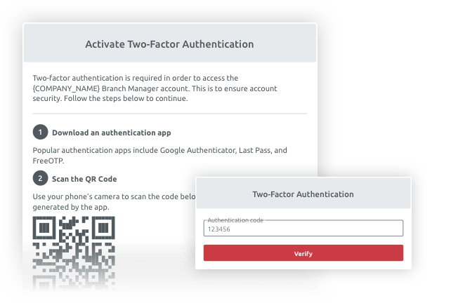 TIMIFY Two-Factor Authentication (2FA) Core Product