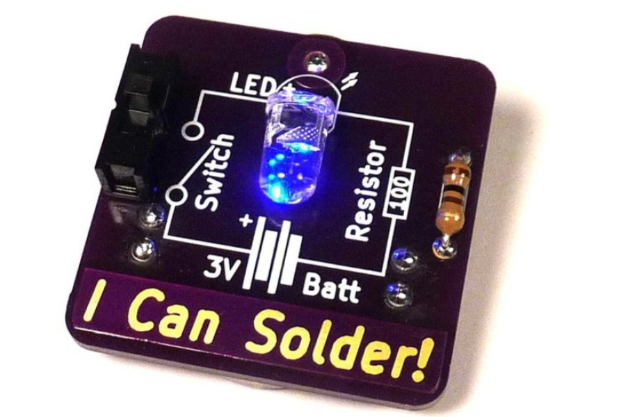 Say it Loud and Proud With The I Can Solder Badge