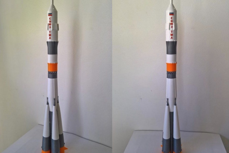A 3D Printed Soyuz FG Rocket Kit For The Cosmonaut in All of Us