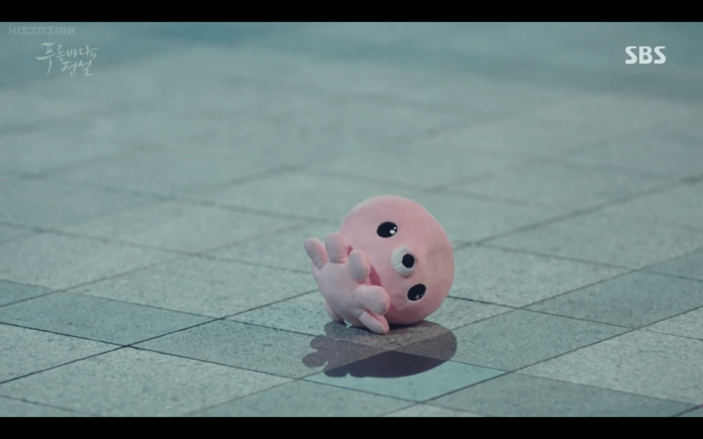 Tiny Rabbit Hole - The Pink Octopus that caught my Heart – Legend of the Blue Sea - k drama - sea creature - amigurumi