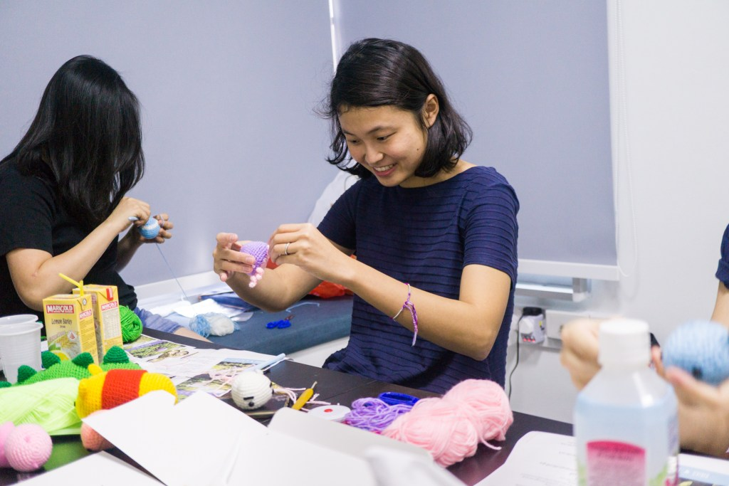Tiny Rabbit Hole - More Bachelorette Amigurumi Workshops Executed in Singapore! - bachelorette - hen party - bridal shower