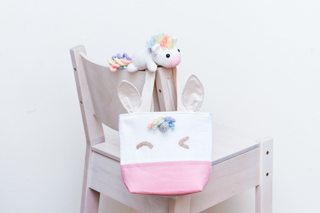 Tiny Rabbit Hole – Unicorn Lunch Tote Sewing and Crochet with Beary Naise