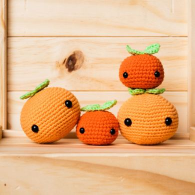 tiny rabbit hole bunny cny chinese new year 2021 kam orange kumquat amigurumi plush toy cute kawaii pattern