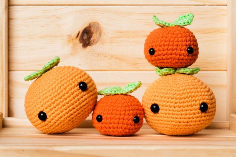 tiny rabbit hole bunny cny chinese new year 2021 kam orange kumquat amigurumi plush toy cute kawaii pattern