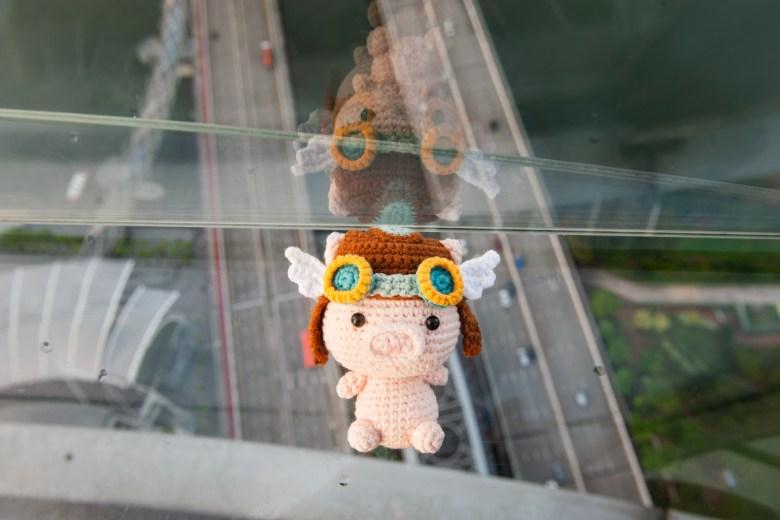 Tiny Rabbit Hole Crochet Amigurumi Pattern Pig Pilot Aviator