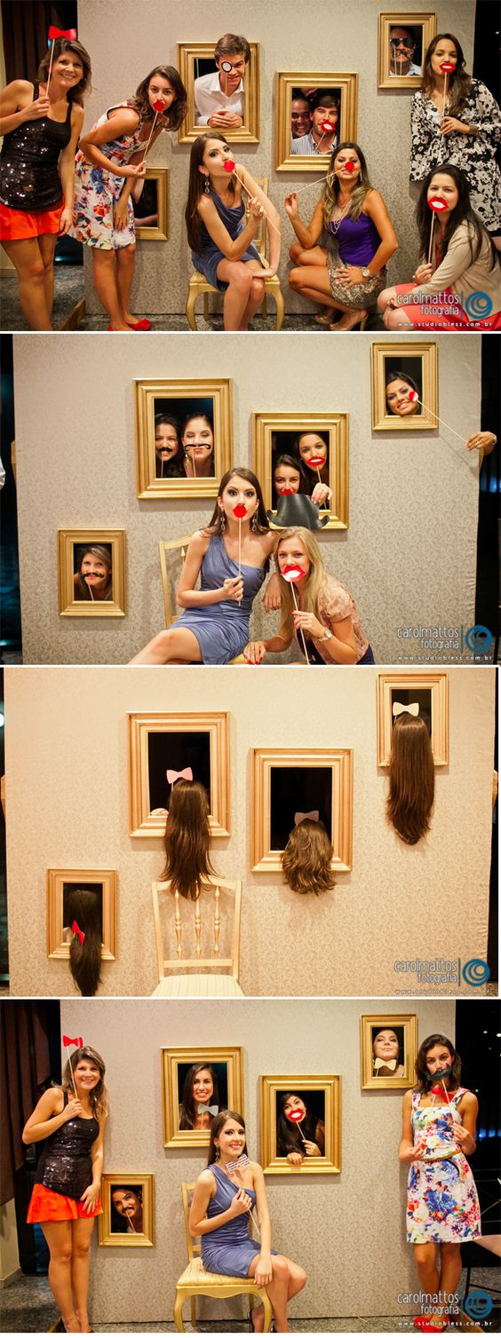 Unique picture frame photo booth