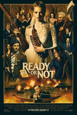 Theatrical release poster for the film, Ready or Not