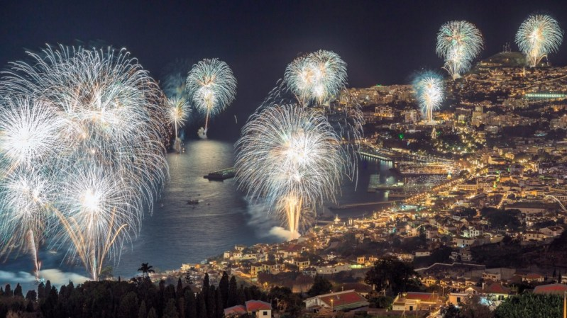 Fireworks at Funchal, Madeira