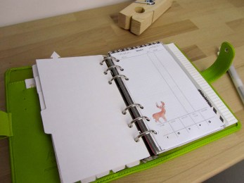 Freebies aquarelle hiver : filofax blog planning