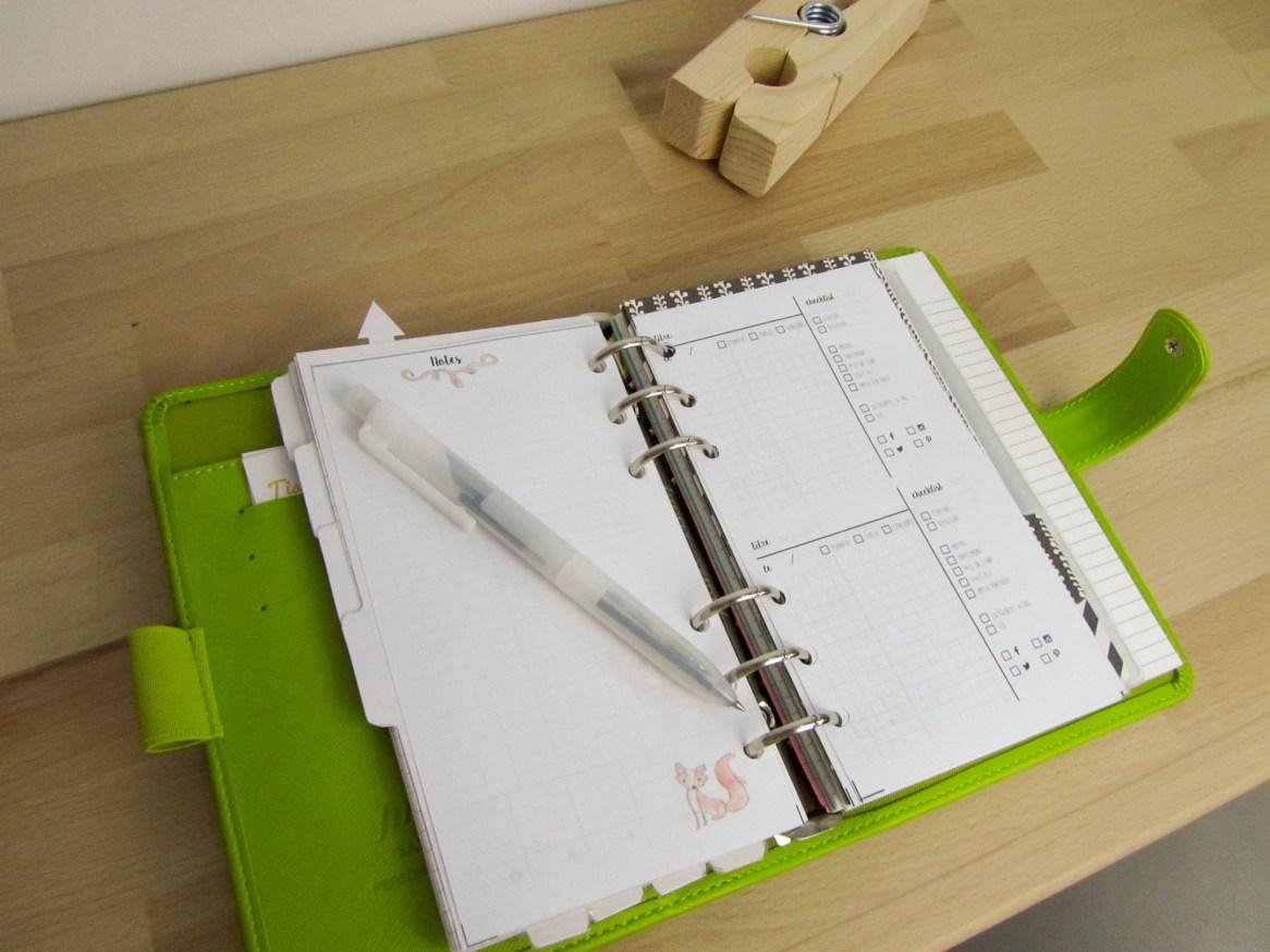 Freebies aquarelle hiver : filofax inserts blog planning