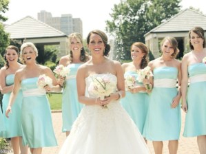 Modern bridesmaids - Matching styles are a classoc for a reason