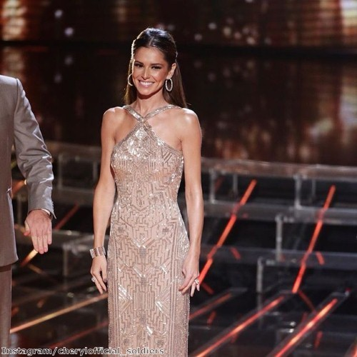 Cheryl makes a statement in sparkles - TJC