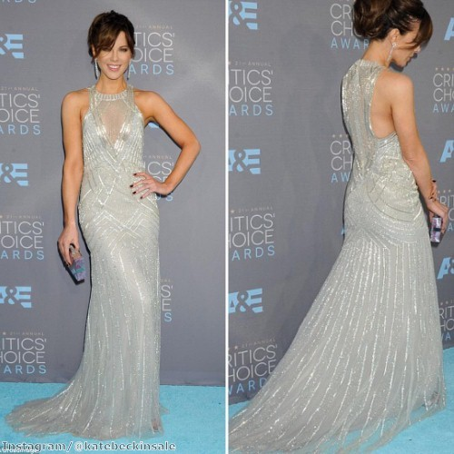 Kate Beckinsale shines in silver gown | The Jewellery Channel
