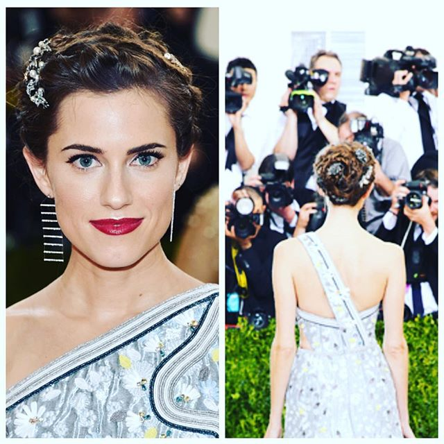 Allison Williams goes for futuristic glamour at the Met Gala