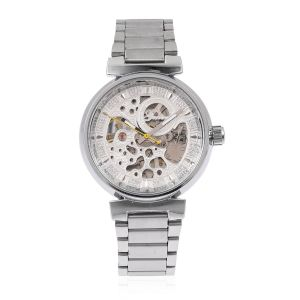 GENOA Automatic Machanical Movement White Dial Water Resistant Watch