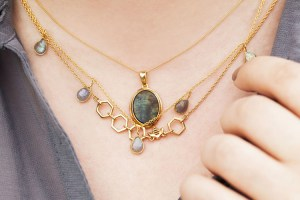 Layered necklace jewellery styling tips