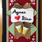 "Caderno longstitch ""Agnes e Itiro"""