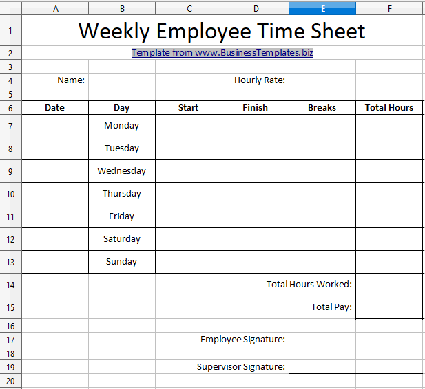 Download free employee timesheet excel templates for managing the working hours calculation of your employees. 10 Best Timesheet Templates To Track Work Hours