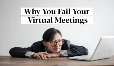 A man failing his virtual meetings