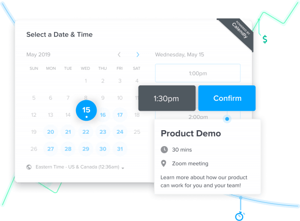 Image illustrating how to schedule a meeting on Calendly