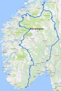 Karte-Norwegen