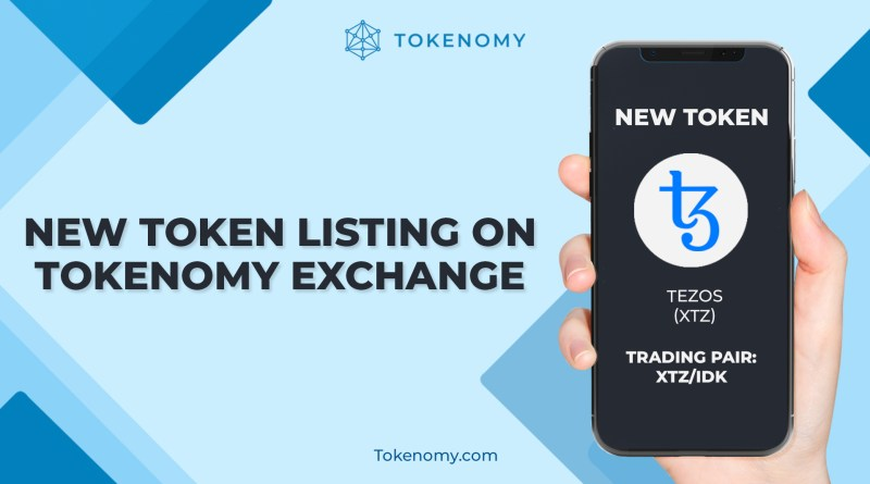 Token Baru Listing di Tokenomy Exchange — Tezos (XTZ)